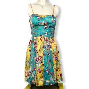 Band of Gypsies • Floral Skater Mini Dress • Sz S
